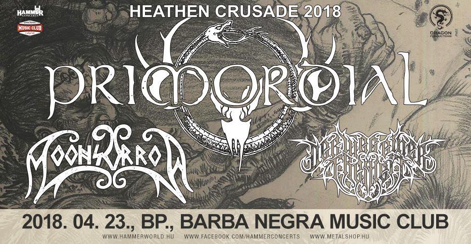 Heathen Crusade Turné – Primordial, Moonsorrow és Der Weg einer Freihet a Barba Negra Music Club-ban áprilisban!