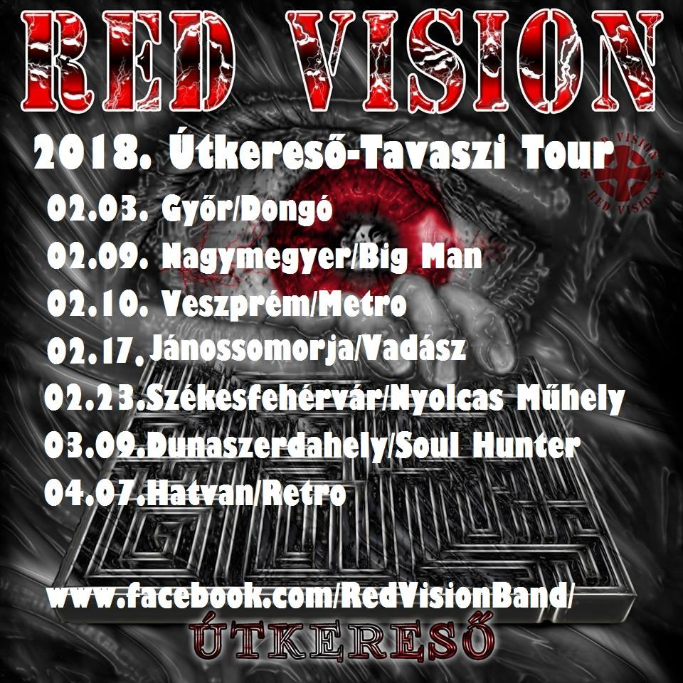 Red Vision – Februárban, Győrben indul a 2018-as turné